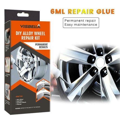 DIY Alloy Wheel Repair Adhesive Kit General Paint Fix Tool for Car Auto Rim