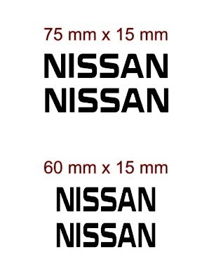 Set of 4 X Nissan brake caliper decal sticker