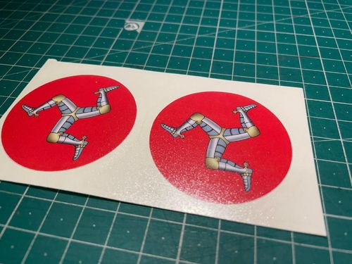 three Legs of Man Vinyl Sticker