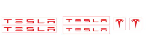 Set 6 Tesla Car Brake Caliper Vinyl Sticker